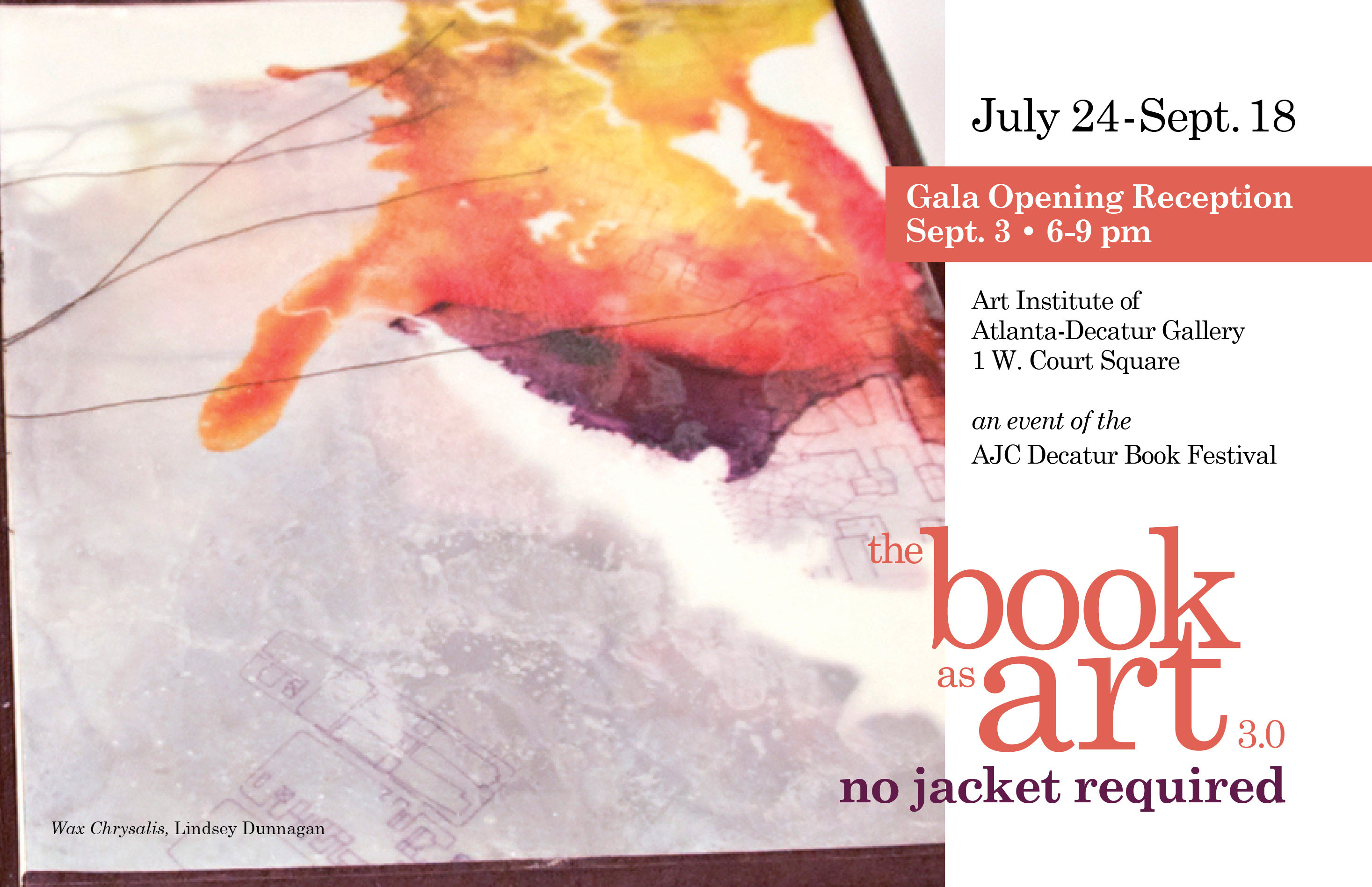 Book As Art 3.0: No Jacket Required . . . Tonight!