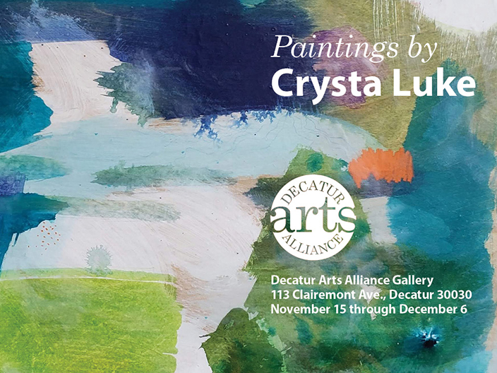 Join Us For An Artist's Reception With Crysta Luke Friday, Nov. 15
