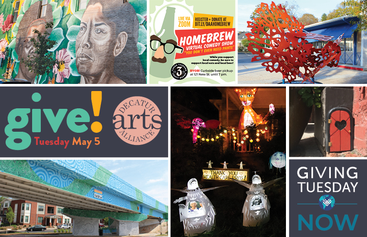 Giving Tuesday NOW, May 5: Give Like Your Art Depends On It!